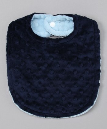Blue & Navy Reversible Minky Bib