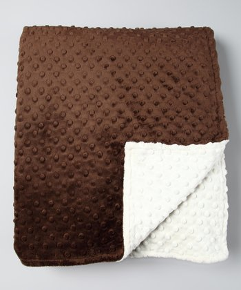 Ivory & Brown Minky Throw