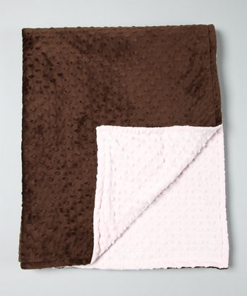 Pink & Brown Throw