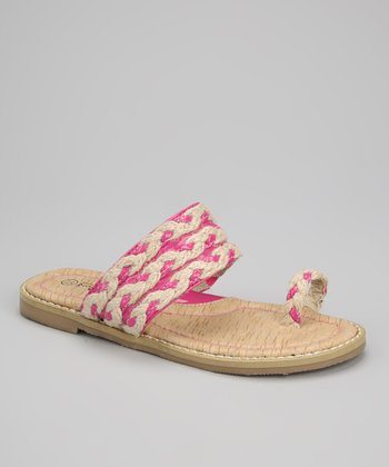 Fuchsia Braided Sandal