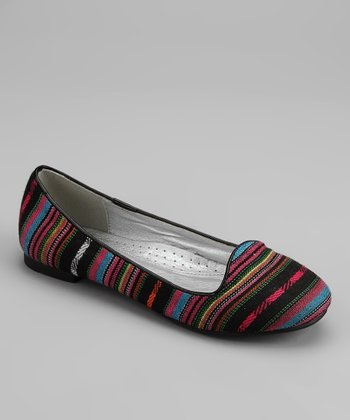 Black Tribal Stripe Flat