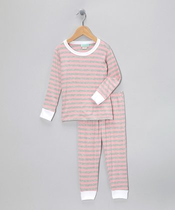 Pink 3-D Pajama Set - Toddler & Girls