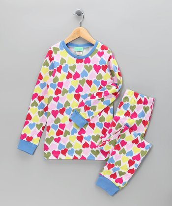 Hot Pink Wild at Heart Pajama Set - Girls