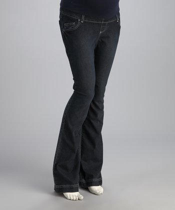 Bedondine Indigo Denim Over-Belly Maternity Jeans
