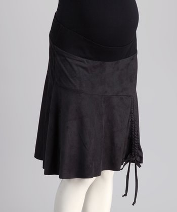 Bedondine Black Under-Belly Maternity Skirt