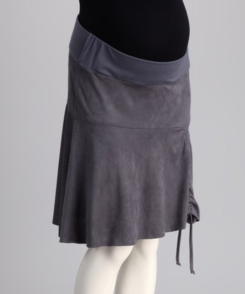 Bedondine Gray Under-Belly Maternity Skirt