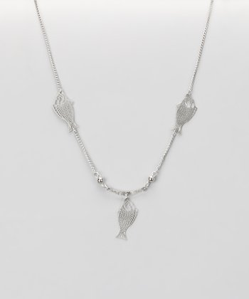 Silver Fish Nothing Necklace