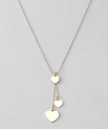 Gold Heart Pendant Necklace