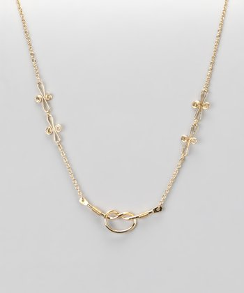 Gold Love Knot Nothing Necklace
