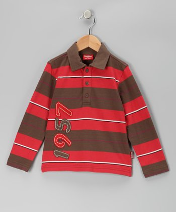 Red '1957' Stripe Polo - Toddler & Boys