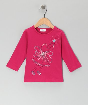 Hot Pink Angel Fairy Tee - Girls
