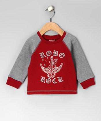 Red 'Robo Rock' Sweater - Infant