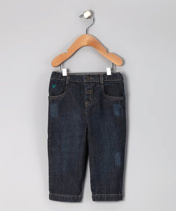 Dark Distressed Zigzag Jeans - Infant & Toddler
