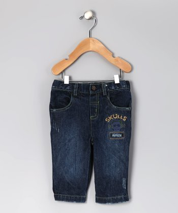 Dark Distressed Skull Jeans - Infant & Toddler