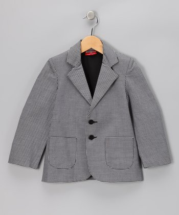 Gray Houndstooth Blazer - Boys
