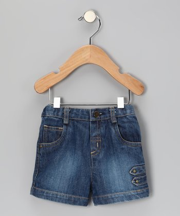 Blue Strap Denim Shorts - Infant, Toddler & Boys