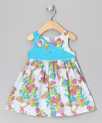Turquoise & Blue Safari Dress - Infant, Toddler & Girls