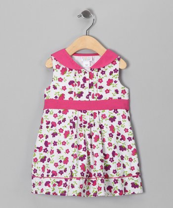 Candy Pink Floral Sailor Dress - Infant, Toddler & Girls