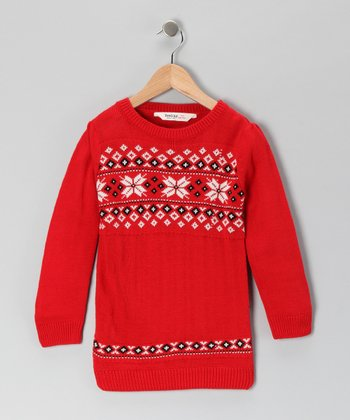 Red Snow Flake Sweater - Infant, Toddler & Kids