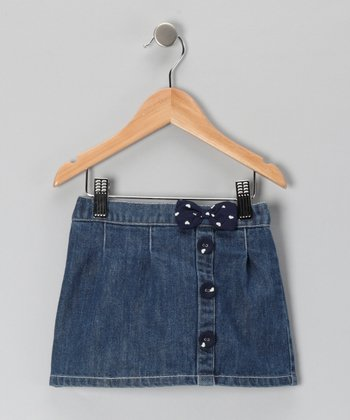 Blue Ribbon Heart Denim Skirt - Infant & Toddler