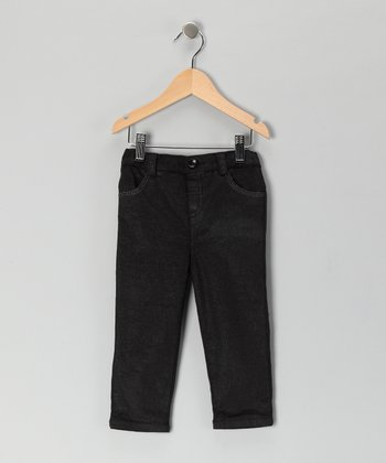 Black Glitter Corduroy Pants - Infant & Toddler