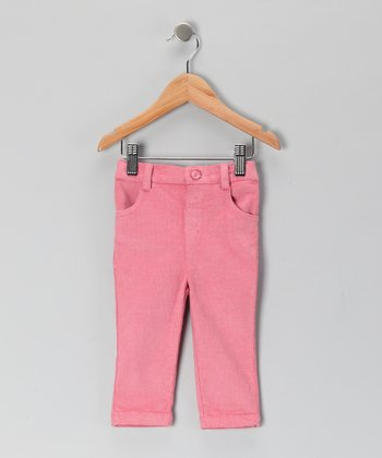 Pink Glitter Corduroy Pants - Infant & Toddler