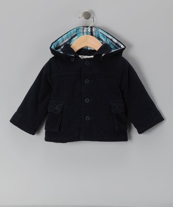 Navy Corduroy Coat - Infant & Toddler