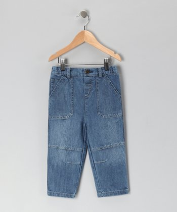 Blue Washed Denim Jeans - Infant