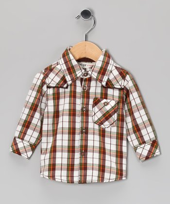 Brown Mill Plaid Button-Up - Infant