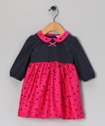 Pink Star Babydoll Dress - Infant & Toddler