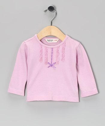 Pink Lace & Ribbon Tee - Infant & Toddler