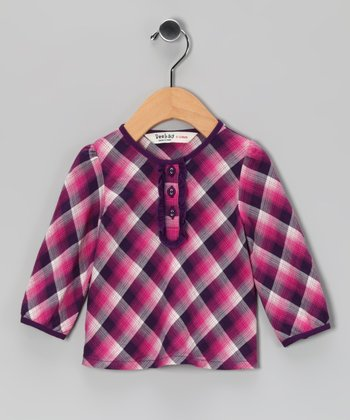 Purple Plaid Top - Infant, Toddler & Girls