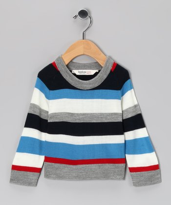 Gray Stripe Sweater - Infant, Toddler & Kids