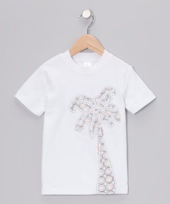 White Palm Tree Tee - Infant, Toddler & Kids