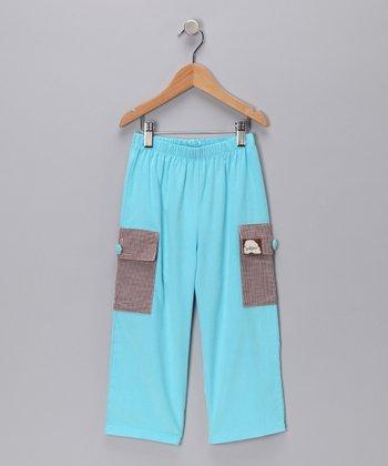 Aqua Corduroy Cargo Pants - Infant, Toddler & Boys