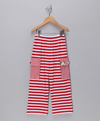 Red & White Cargo Pants - Infant & Boys