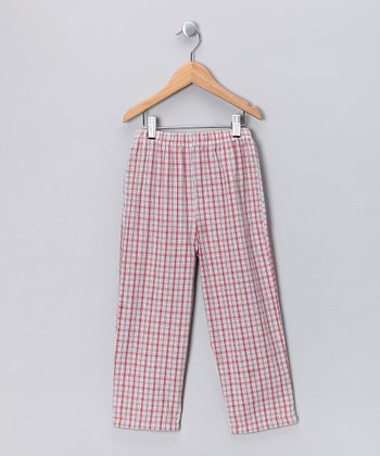 Red Plaid Pants - Toddler & Boys