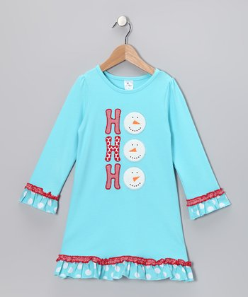 Aqua 'Ho Ho Ho' Swing Dress - Infant, Toddler & Girls