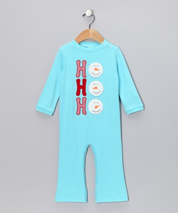 Aqua 'Ho Ho Ho' Playsuit - Infant