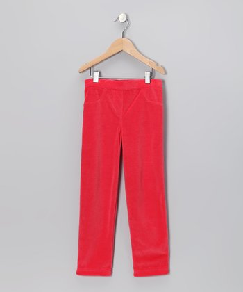 Red Velour Pants - Infant, Toddler & Girls