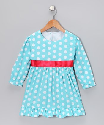 Aqua Polka Dot Tunic - Infant & Toddler
