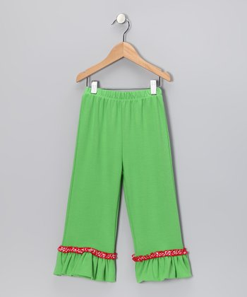 Lime Ruffle Pants - Infant, Toddler & Girls