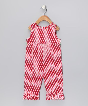 Red Polka Dot Overalls - Infant