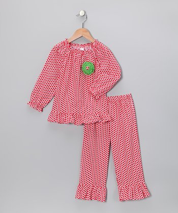 Red Polka Dot Top & Ruffle Pants - Infant & Toddler