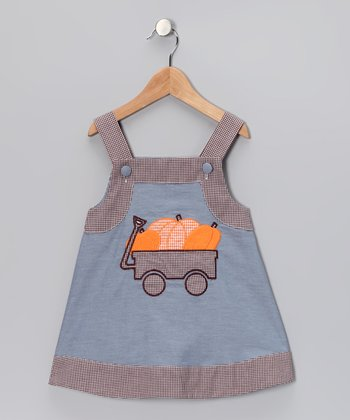 Blue Pumpkin Jumper - Infant & Toddler