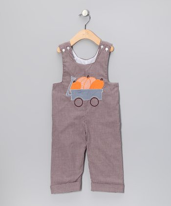 Brown Pumpkin Classic Overalls - Infant & Toddler