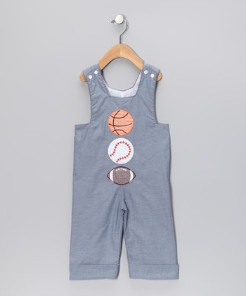 Blue Sports Classic Overalls - Infant & Toddler