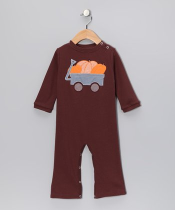 Brown Pumpkin Playsuit - Infant