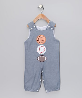Blue Sports Overalls - Infant & Toddler