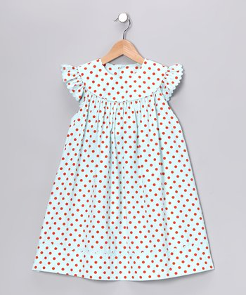 Aqua Angel-Sleeve Dress - Girls